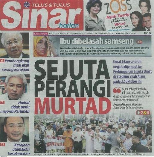 Himpunan Sejuta Umat and apostasy in Malaysia 1